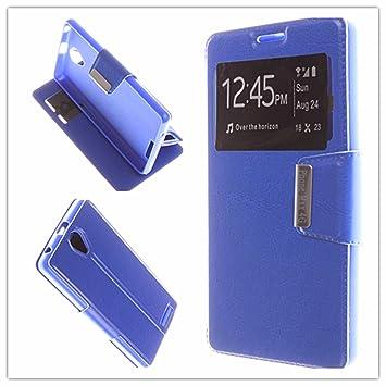 MISEMIYA - Funda Energy Phone MAX 4G - Funda Solo, Libro View Sporte,Azúl