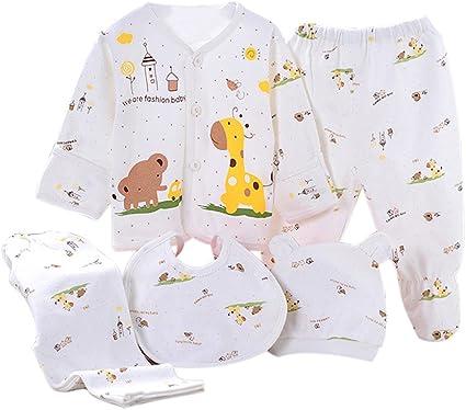 Per 5 piezas Conjuntos de ropa para bebé Canastilla de algodón Ropa interior para Niños Niñas Regalo para Recién Nacido: Amazon.es: Bebé
