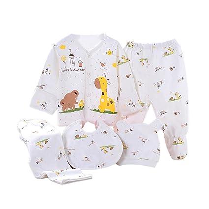 Per 5 piezas Conjuntos de ropa para bebé Canastilla de algodón Ropa ...
