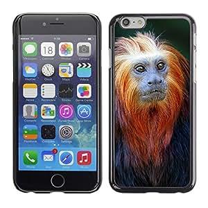 """For Apple iPhone 6 / 6S (4.7 inches!!!)/6S (4.7 INCH) Case , Mono lindo minúsculo mono tropical exótica"""" - Diseño Patrón Teléfono Caso Cubierta Case Bumper Duro Protección Case Cover Funda"""