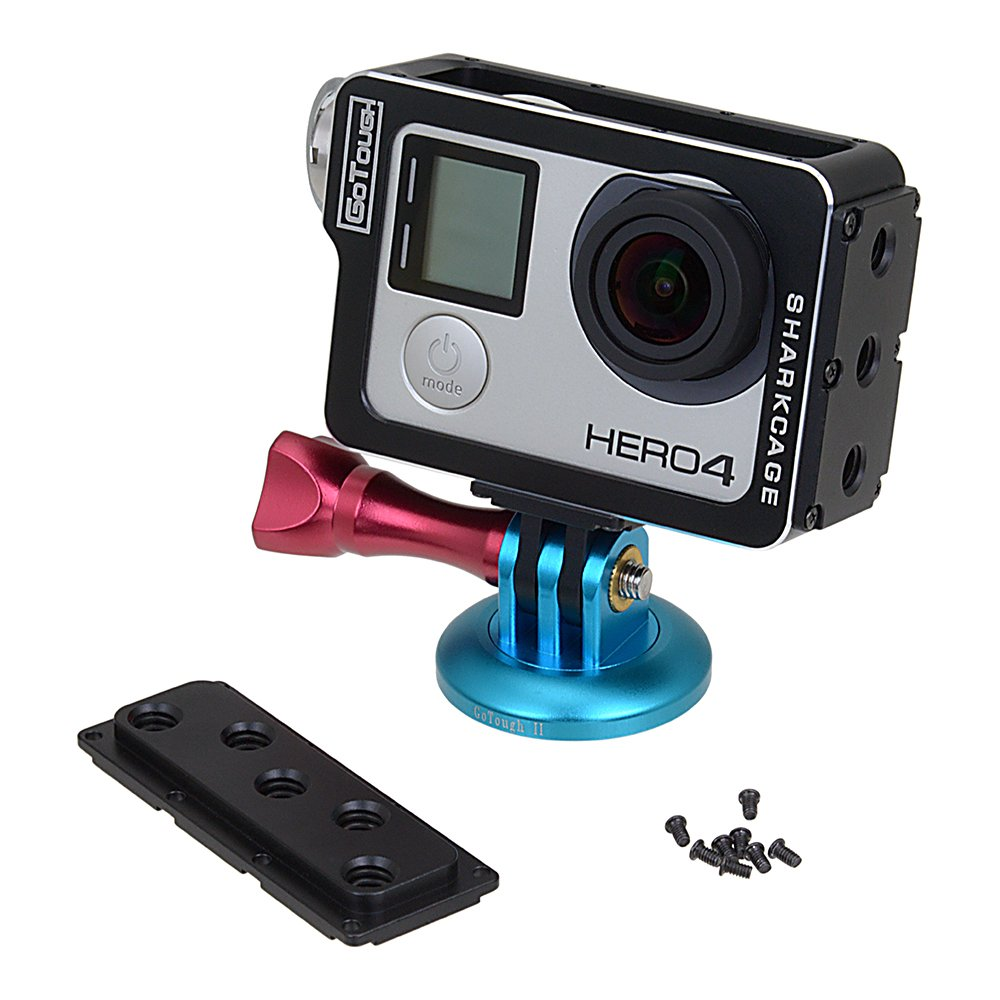 Compatible with GoPro HERO8 Naked Action Cameras Fotodiox Pro GoTough Sharkcage Skeleton Housing Protective Cage Case