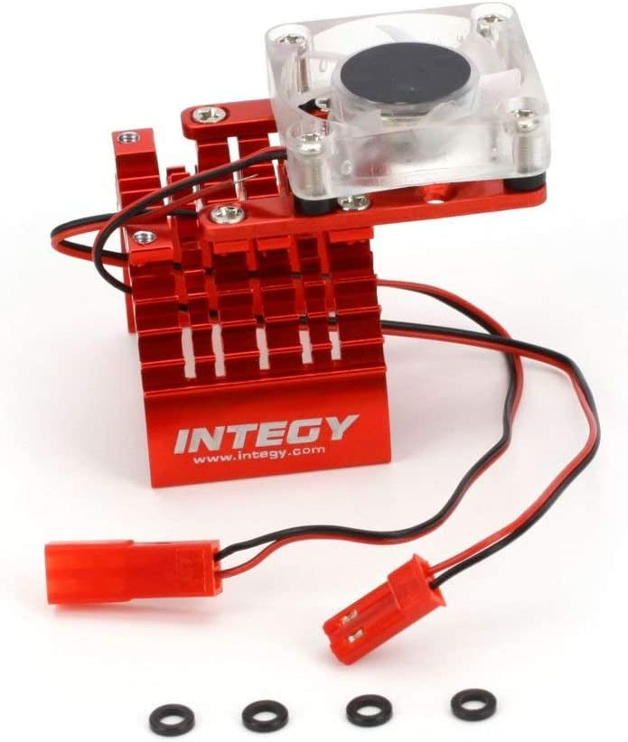 Integy Motor Heatsink and Cooling Fan, Red INTC22470RED