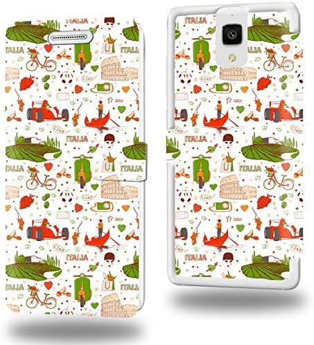 Italie Rome Venise Collection Pattern Funda de Cuero para Xiaomi Mi4 Flip Case Cover (Estuche) PU Cuero - Accesorios Case Industry Protector