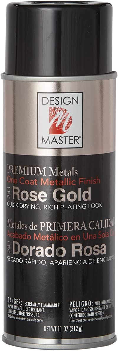 Design Master DM241 Premium Metallic Spray Paint, 11-Ounce, Rose Gold