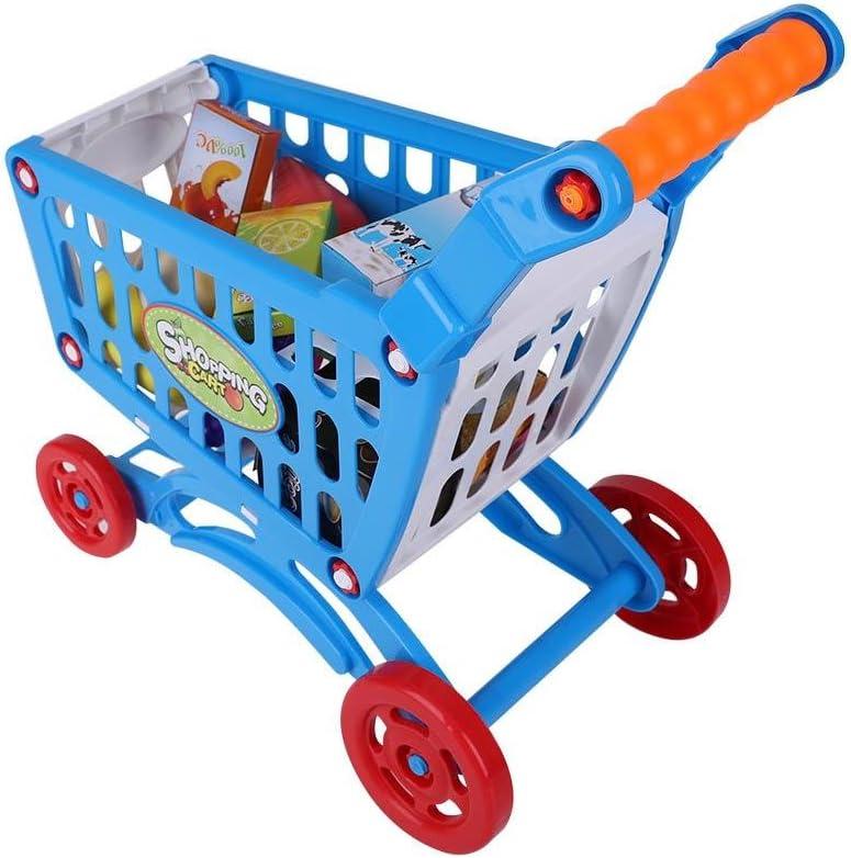 Couleur en Option Acogedor Panier d/'Achat Alimentaires pour Enfant Jouets,Les Courses dans l/épicerie Enfant Jouets C