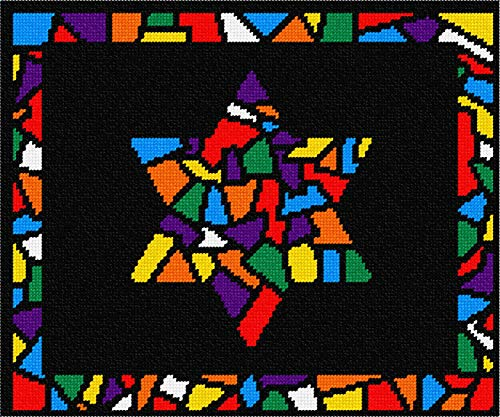 Pepita Tallit Glass Borders Star Needlepoint Kit ()