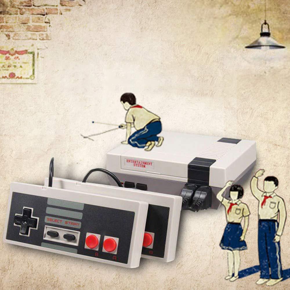 Classic Mini Game Console, Retro Mini Game Console, Retro Mini NES Console, Home TV Game Console Mini NES Retro Video Game Console With AV HD NES Mini Console, Built-In 620 Classic Games for Childre: Video Games