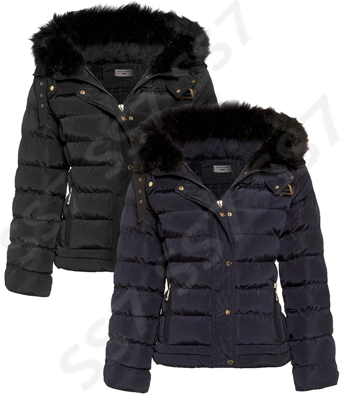 SS7 Women's Padded Winter Jacket, Sizes 8 to 16: Amazon.co.uk ...
