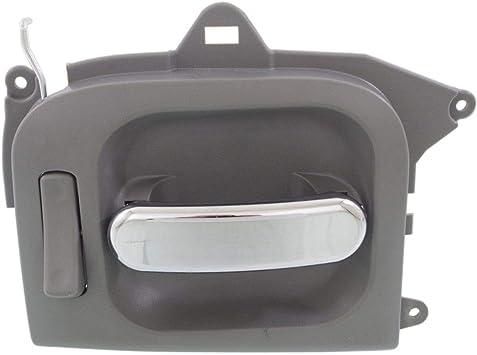 Exterior Door Handle For 2002-2005 Kia Sedona LX Rear Driver Primed Plastic