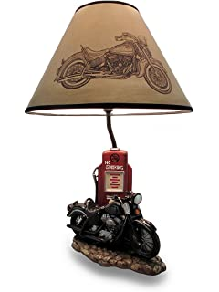 Amazon harley davidson heritage softail lamp office products resin table lamps pause lifes journey black retro motorcycle 19 inch table lamp 12 x 19 mozeypictures Image collections