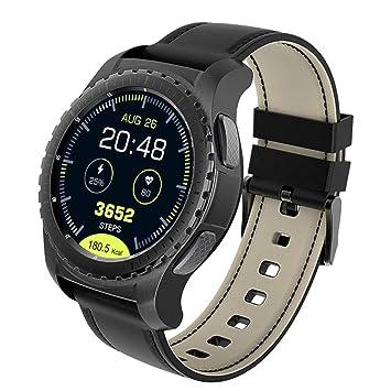 FFHJHJ Reloj Inteligente Smartwatch Heat Rate Monitor KW28 ...