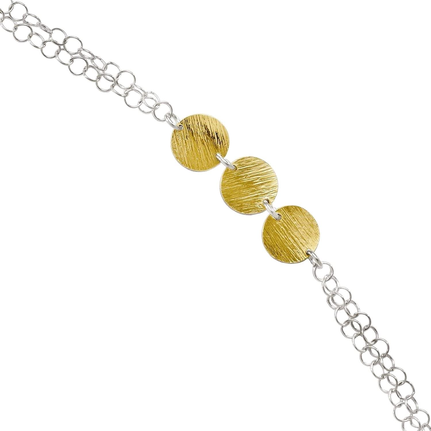 9-10 Inch Leslies Sterling Silver Gold-tone 18k Flash Plated Anklet Adj