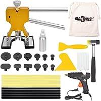 Mookis Car Body Dent Repair Tools, Paintless Dent Repair Kits with Glue Gun, 10 Glue Sticks, 12 Glue Puller, Glue Shovel, Repair Hammer for Auto Dent Remover