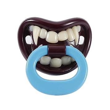 Chupete divertido para bebé, chupete de Halloween, vampiro, chupete, creativo, de silicona, ideal como regalo para bebés