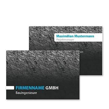 500 Visitenkarten Im Wert Von 37 90 Cracked Blue Business Card Zum Online Selbstgestalten Ohne Software