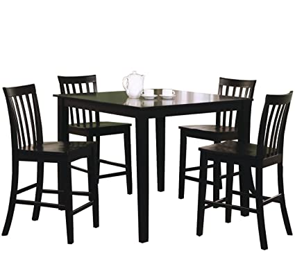 4 piece dining set glass coaster 5piece dining set with barstools black amazoncom