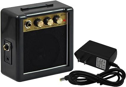 IKN Mini 5W amplificador de guitarra con 9V la fuente del ...