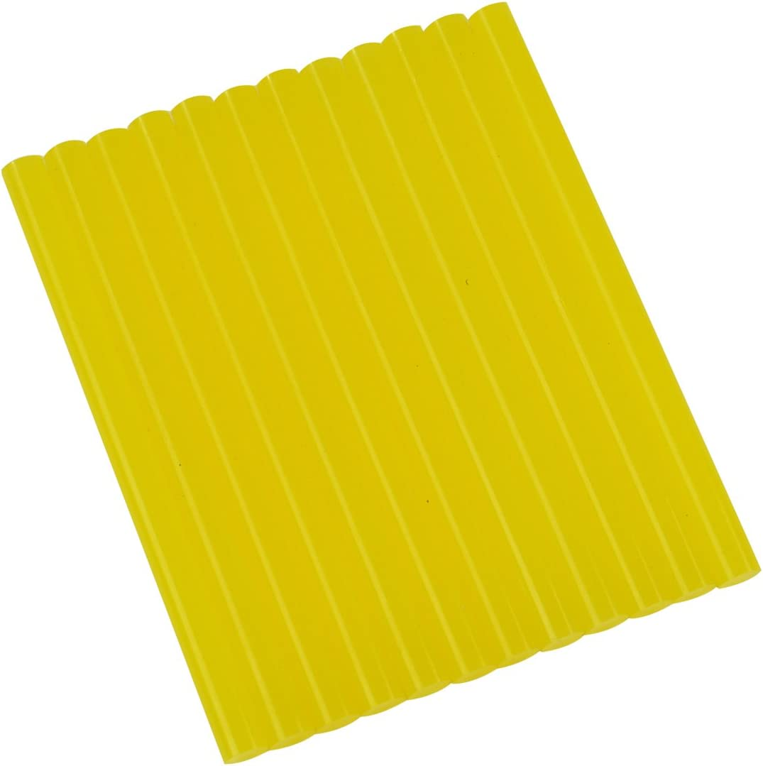 "Gluesticksdirect Translucent Yellow Colored Glue Sticks Mini X 4"" 12 Sticks"