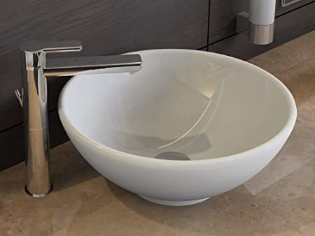 Aqua Bagno Design Ceramic Countertop Wash Bowl Round Wash Basin Sink ...