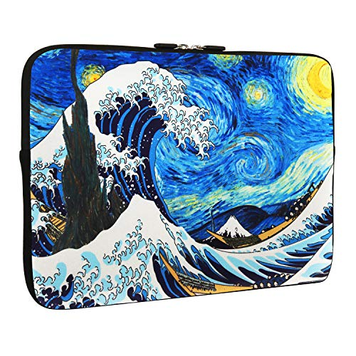 Tablet Sleeve Bag 9.7 Inch, Sea Waves Design Light Weight Shockproof iPad Skin Case for Girls and Women, Tablet Carrying Case Cover Bags for Tablet and iPad 9.7 Inches, Starry Night