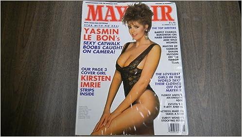 Amazon Com Mayfair Busty Adult Magazine Volume  Yasmin Le Bon Covergirl Kirsten Imrie Mayfair Books