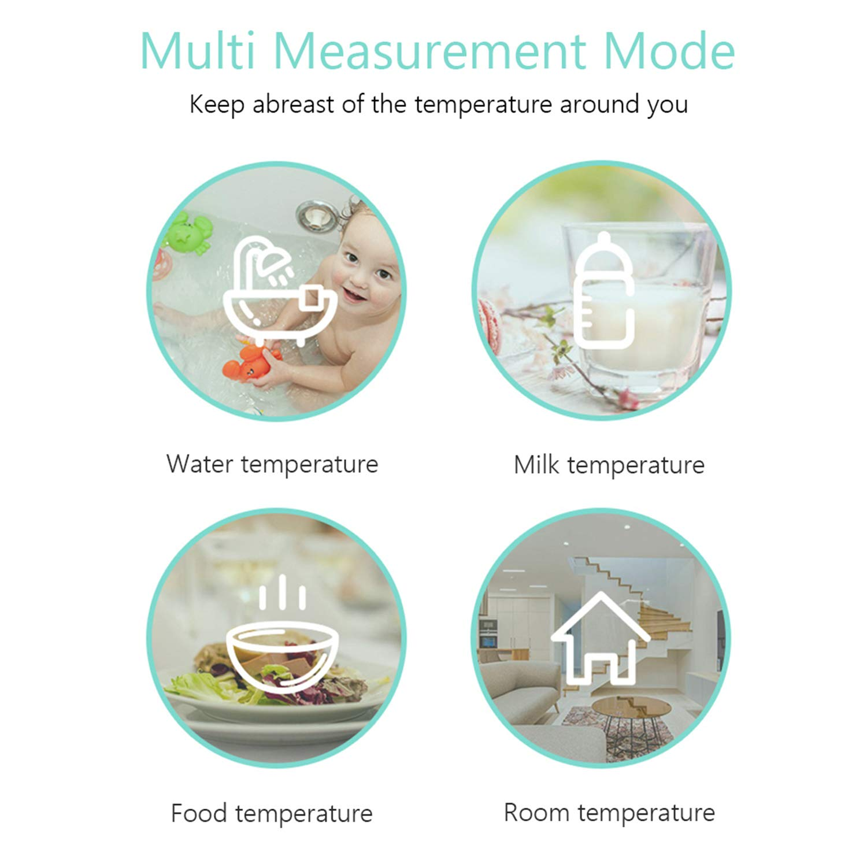 VISLONE Non-Contact Infrared Thermometer 32~42℃ Temperature Measurement Gauge ℃//℉ Dual Mode Digital LCD Temperature Meter Mini Portable Forehead Body Surface Temperature Tester 5.71 2.48 1.61in