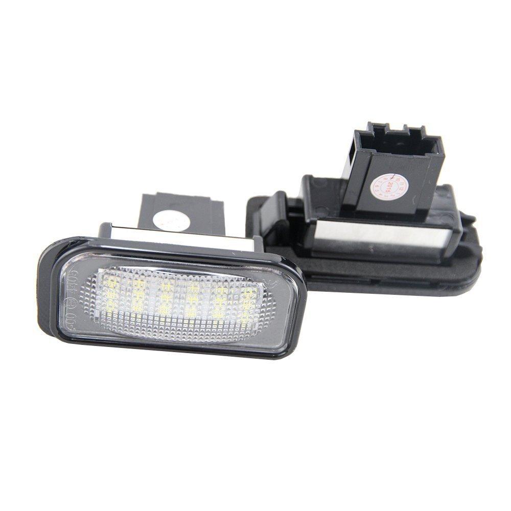 GZLMMY 2 x 18-SMD LED luces de matrícula placa de matrícula bombilla para Clase C W203 4D Sedan 2001 – 2007 SMD3528 China