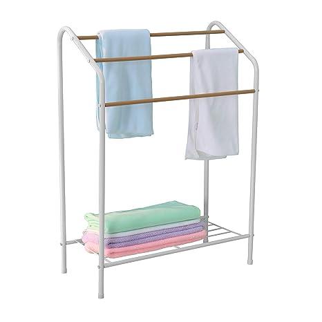 MULSH Soporte de Almacenamiento para Toallas de baño (3 Niveles)