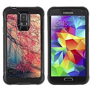 Paccase / Suave TPU GEL Caso Carcasa de Protección Funda para - Spring Tree Mist Forest Pink Blossom Cherry - Samsung Galaxy S5 SM-G900