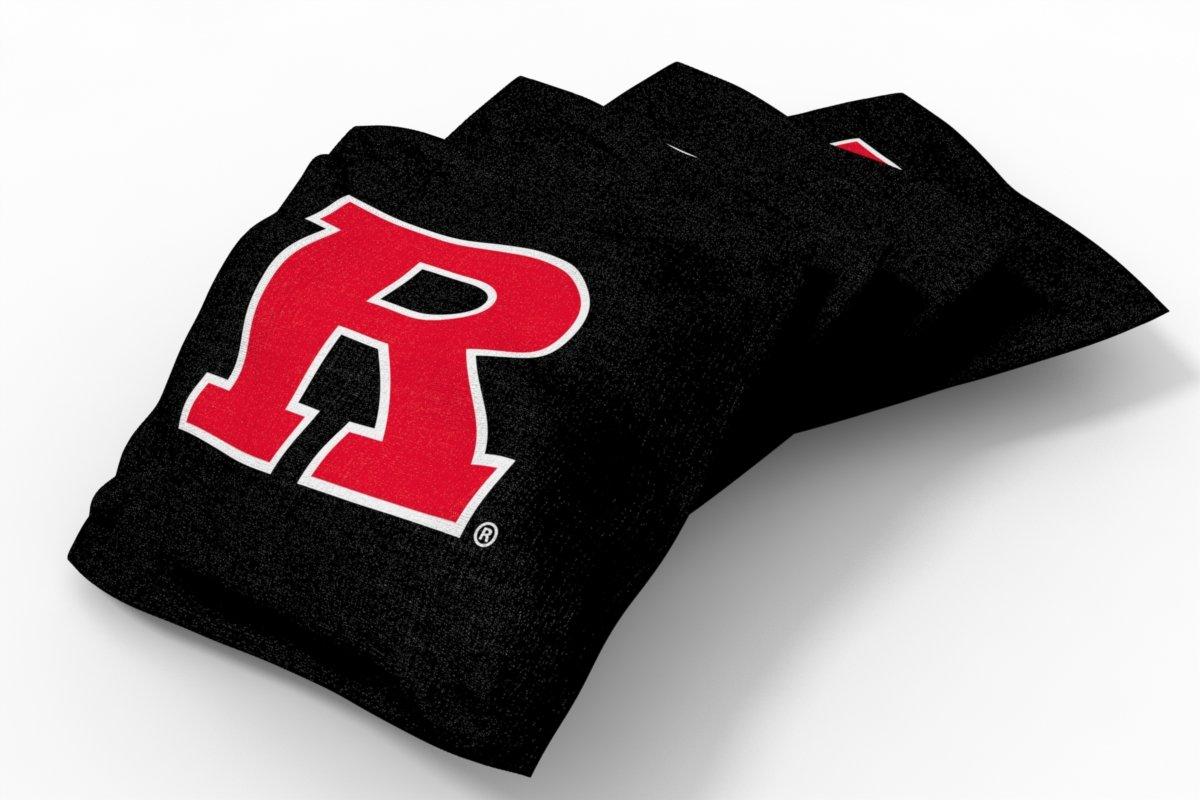 Wild Sports NCAA College Rutgers Scarlet Knights Black Authentic Cornhole Bean Bag Set (4 Pack)