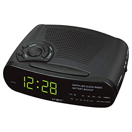 OOLIFENG Reloj Despertador Digital LED con Snooze, Radio FM/Am Reloj para Dormitorios,