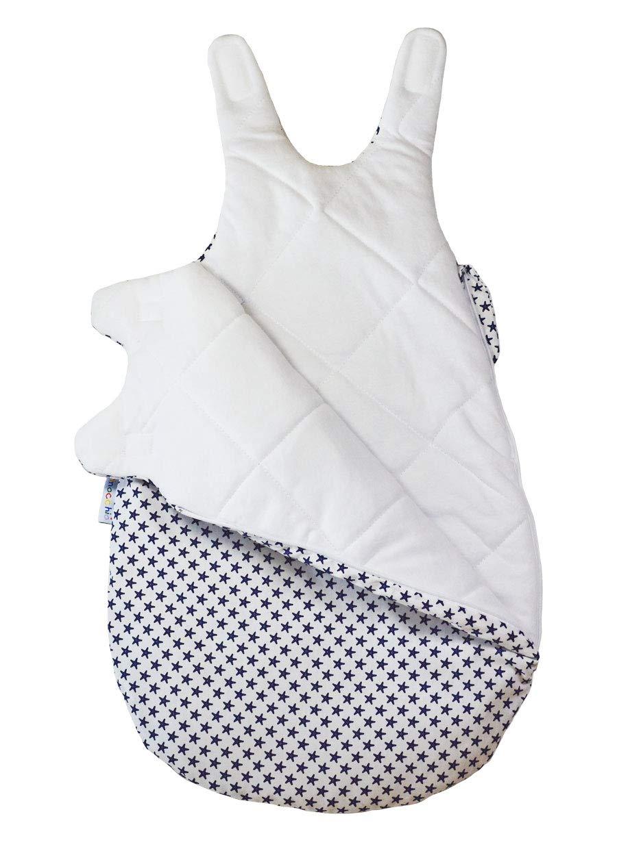 50//56 Picosleep Babyschlafsack Seestern I Ganzjahresschlafsack I ohne Arm I mit seitlichem Rei/ßverschluss