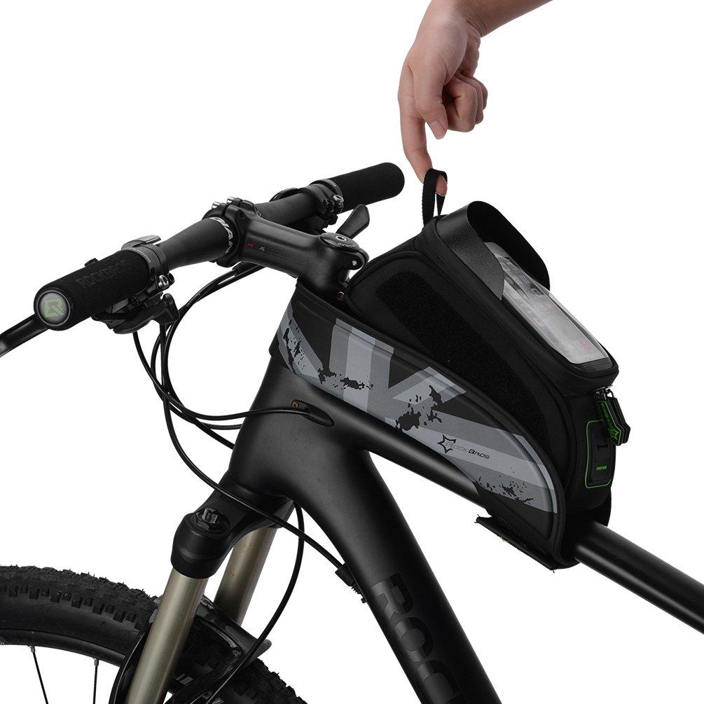 'Rockbros Bicicleta Marco bolsillos Agua fija bolsillos para pantalla de 5.8/6.0