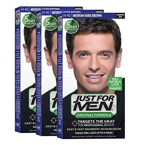 Just For Men Original Formula Men's Hair Color, Medium Dark Brown (Pack...