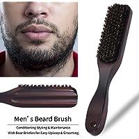 Rameng Brosse à Barbe en Bois à Cheveux Pour Hommes Beard Brush Naturel Brosse en Poils de Sanglier