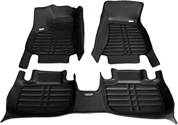 Waterproof The Ultimate Winter Mats All Weather Full Set - Black TuxMat Custom Car Floor Mats for Dodge Charger RWD 2011-2020 Models/- Laser Measured Also Look Great in the Summer./The Best/Dodge Charger Accessory. Largest Coverage