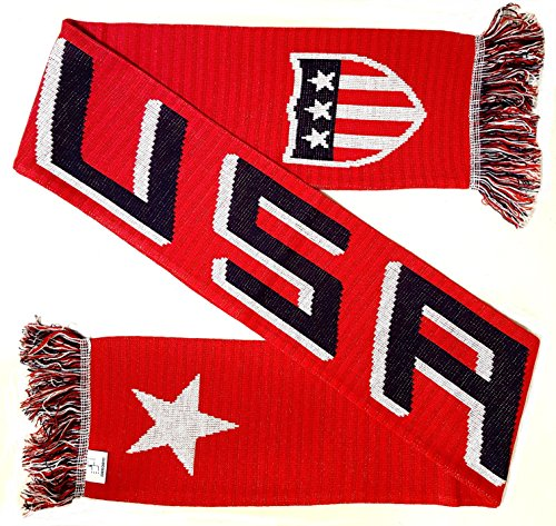 USA Soccer Knit Scarf (Red) ()