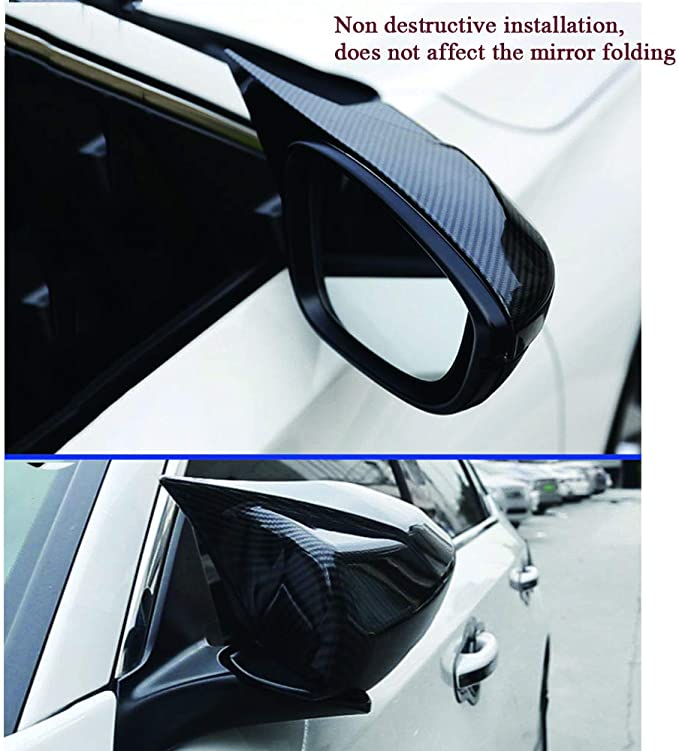 XITER ABS Carbon Fiber Style Cow Horn All Inclusive Rearview Mirror Cover Door Side Moulding Trim Generation For Honda Accord 10th 2018 2019 2020