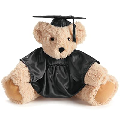 Vermont Teddy Bear Graduation Bear -2020 Graduation Gifts, 15 Inch, Black: Toys & Games