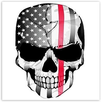 Skinoeu 2 Stück Vinyl Aufkleber Autoaufkleber Skull Schädel Totenkopf Knochen Usa Flagge Vereinigte Staaten Von Amerika Horror Stickers Auto Moto Motorrad Fahrrad Helm Fenster Tuning B 42 Auto