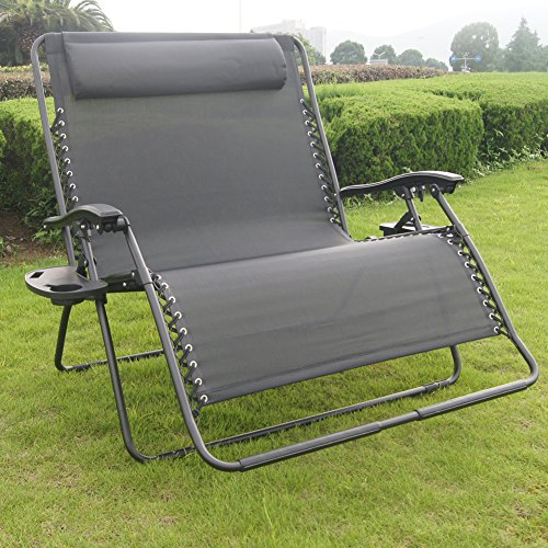 Prime Garden™ 2-person Gravity Free Recliner with Pillow and one cup holder on each side - Buy Online in Oman. | prime garden™ Products in Oman - See ... & Prime Garden™ 2-person Gravity Free Recliner with Pillow and one ...