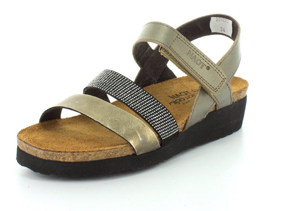 Naot Footwear Women's Krista B00S7DL15A 41 M EU|Pewter / Metal / Chrome Studded