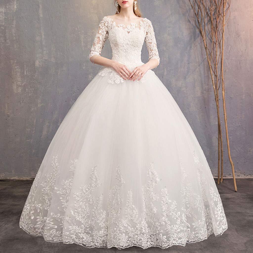 Mikiya Gonna Senza Fili per Le Donne della Sposa Vestito da Sposa Gonna con 6 Cerchi