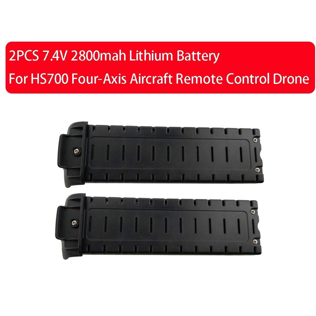 Pstars 2pcs Lipo Battery 7.4V 2800mah Lithium Battery for HS700 Four-Axis Remote Control Drone Aerial Photography Brushless Quadcopter Black Battery