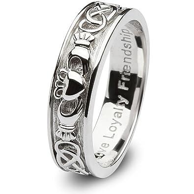 Amazoncom Ladies Sterling Silver Claddagh Wedding Ring SLSD8