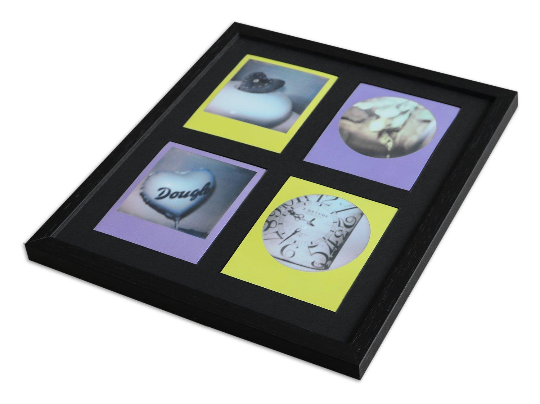 3d98a15862 Pared Style Marco para Polaroid de imágenes Serie A850 Negro, veteada  Normal Cristal Incluye paspartú Negro para 4 Polaroids: Amazon.es: Hogar
