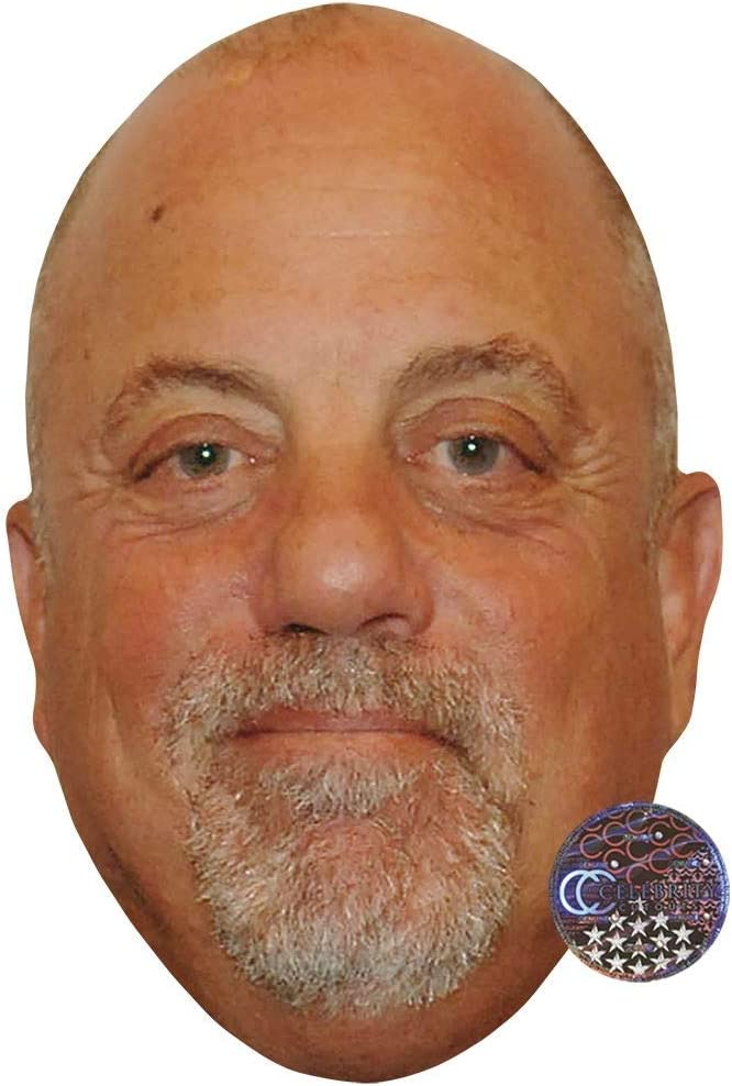 Billy Joel Smile Celebrity Mask Card Face and Fancy Dress Mask