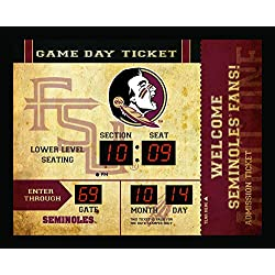 Team Sports America NCAA Bluetooth Scoreboard Wall Clock, Florida State Seminoles