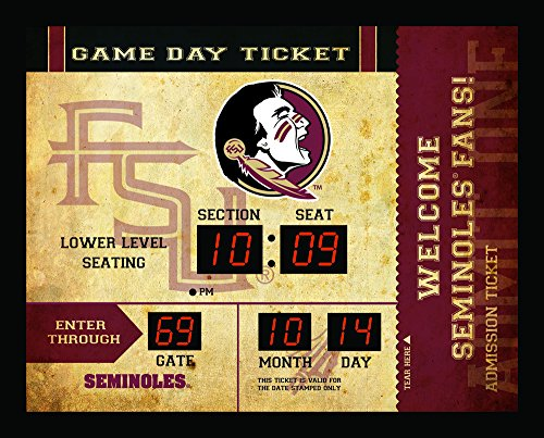 - Team Sports America NCAA Bluetooth Scoreboard Wall Clock, Florida State Seminoles