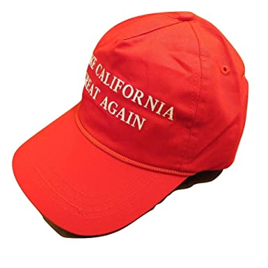Amazon.com  Make California Great Again Trump Hat 100% Cotton  Clothing ed636cd71b5